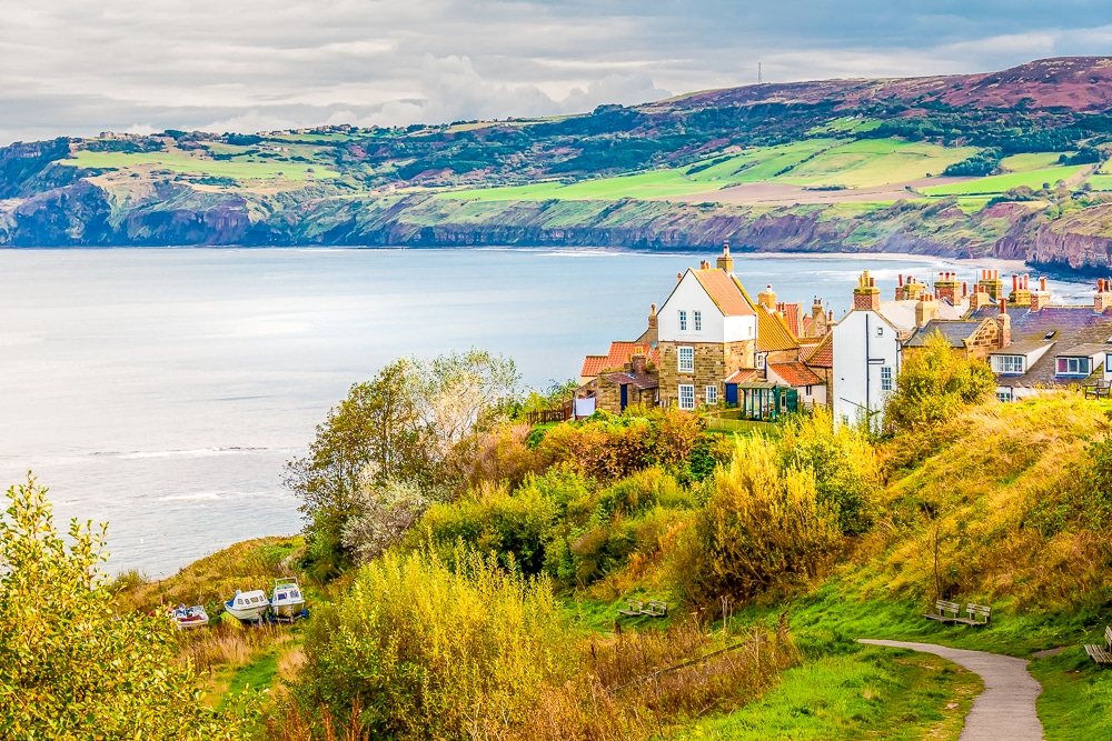 Robin Hood's Bay village and water