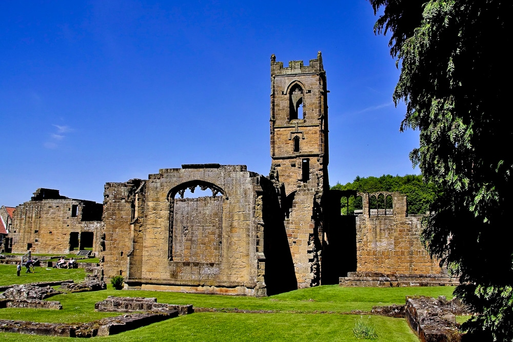 The ruins of Mount Grace Priory near Osmotherley