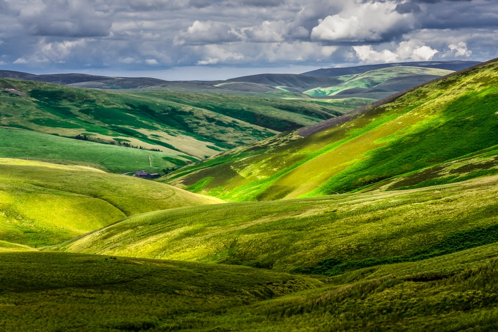 Otterburn Ranges in Northumberland National Park