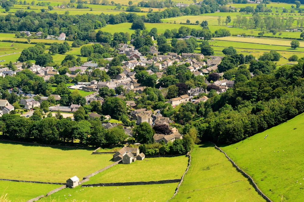 The village of Castleton