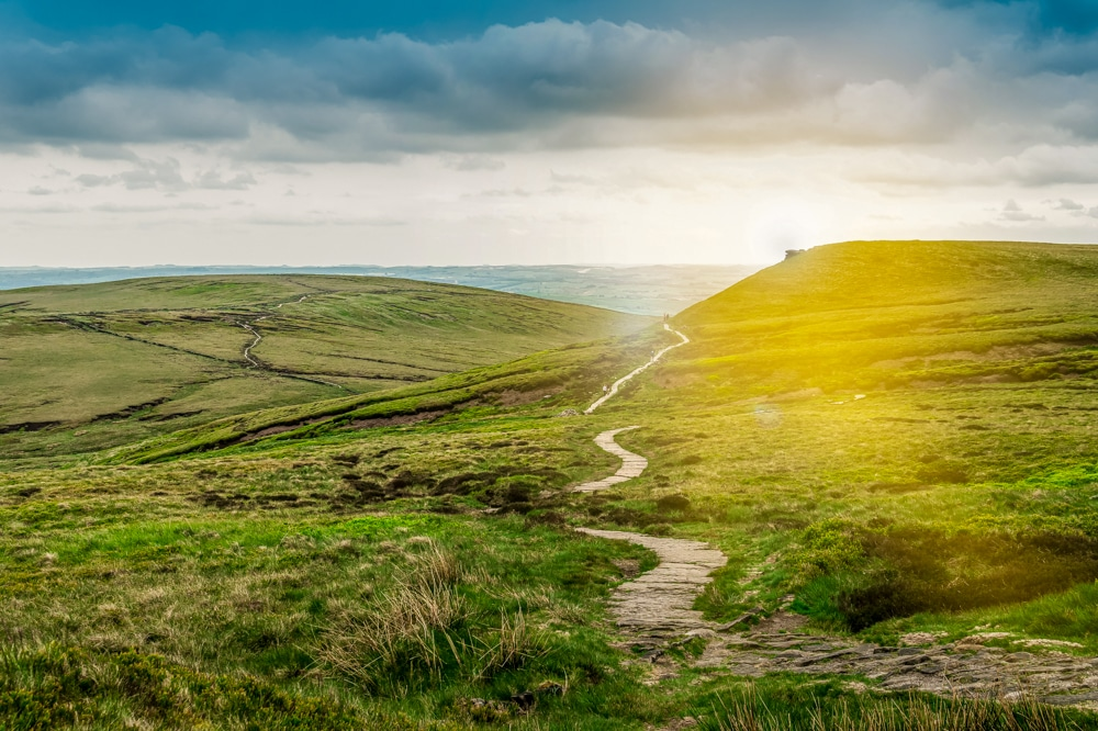 The Pennine Way in the Peak District