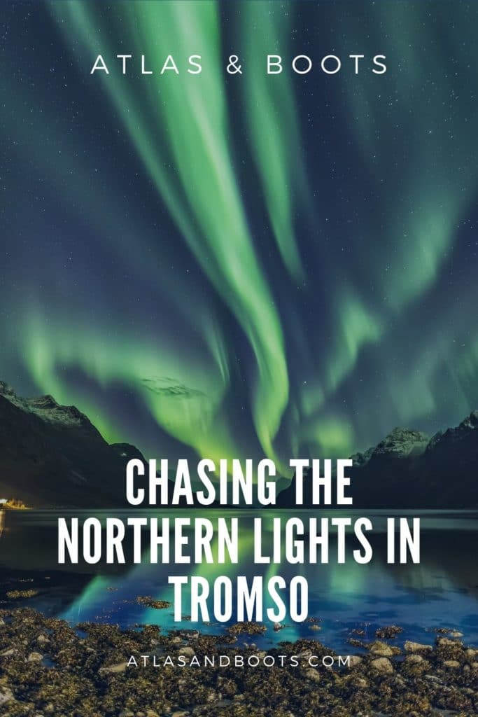 northern lights in tromso pinterest pin