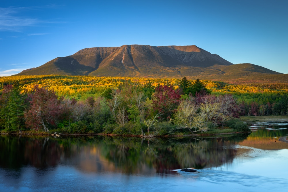 Mount Katahdin in Baxter State Park in Maine