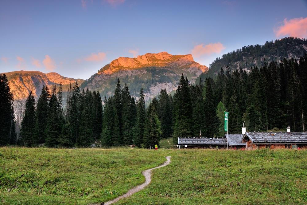 Sunset at the Wasseralm hut