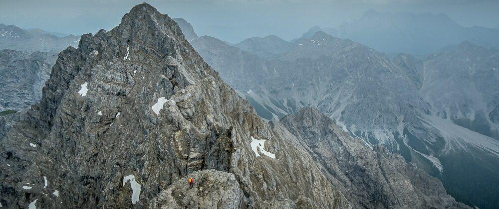 Hiking the Watzmann Traverse looking towards Südspitze