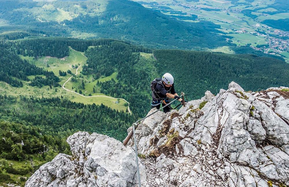 The Pidinger via ferrata is one of the best hikes in Berchtesgaden National Park