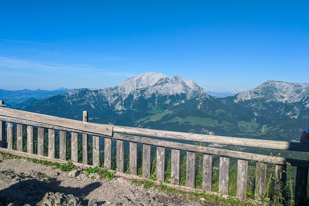 The view from the Watzmannhaus while hiking the Watzmann Traverse and one of the best hikes in Berchtesgaden National Park