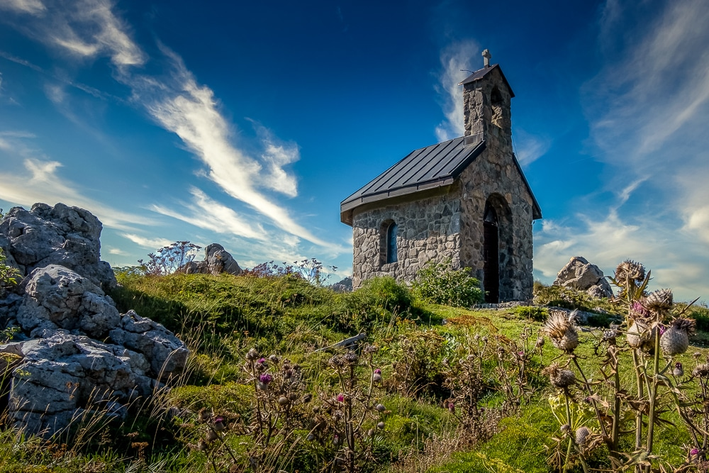 A church near the start of Highlander Velebit