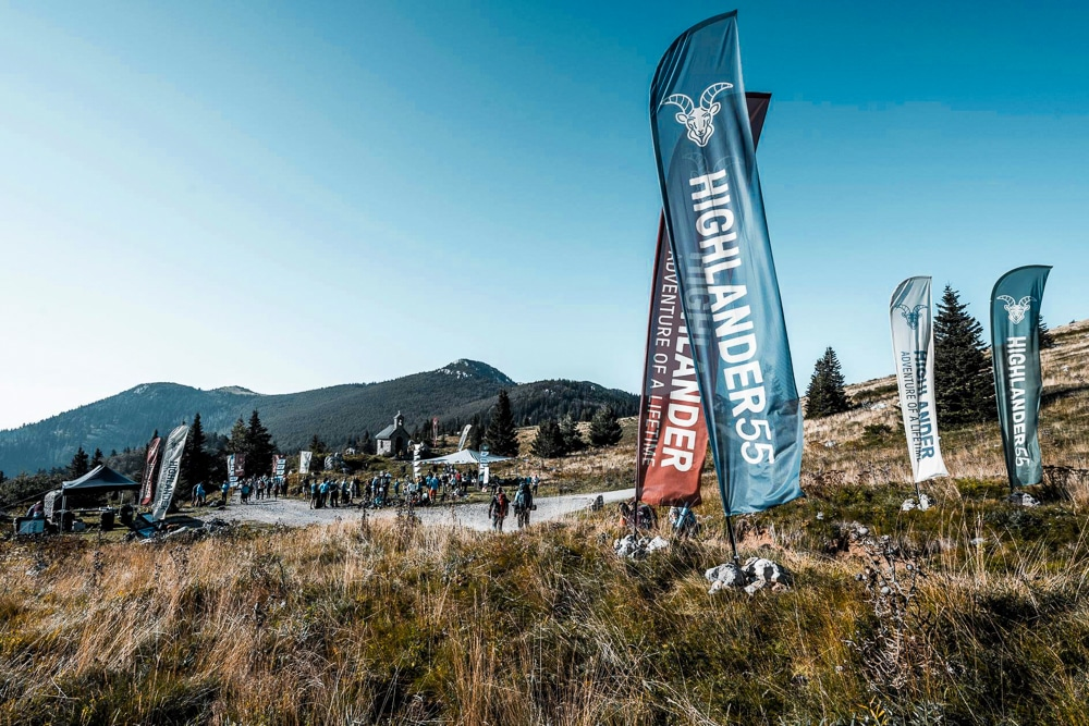 Start line of Highlander Velebit Croatia
