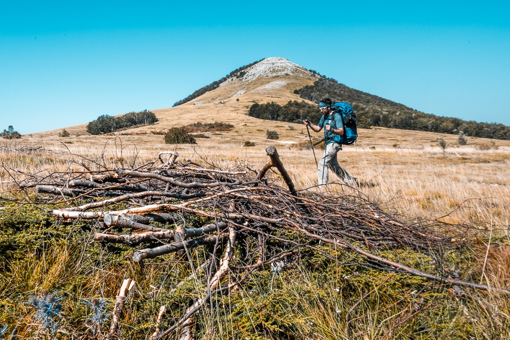 Peater trekking during the Velebit