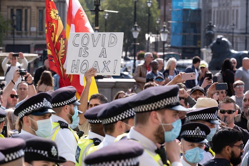 Demonstrators in the UK