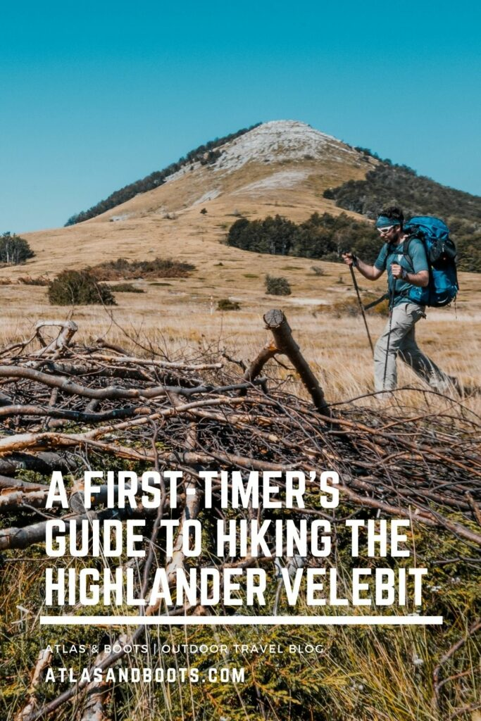 guide to hiking the Highlander Velebit Pinterest pin