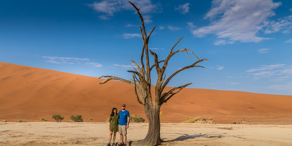 Peter and Kia in Namibia