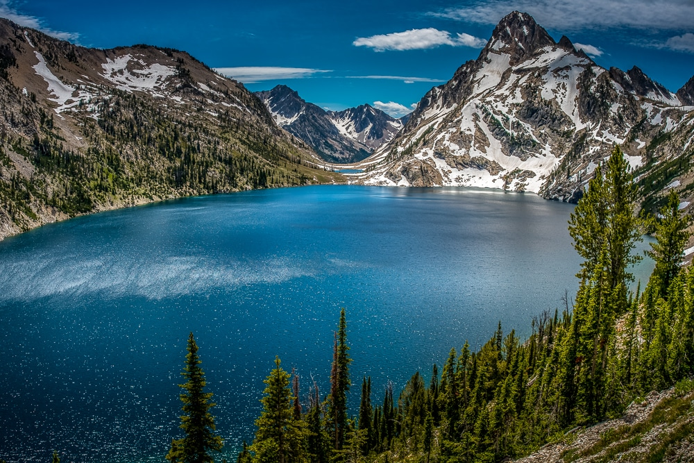 Sawtooth lake in Idaho is one of the best hiking trails in every US state