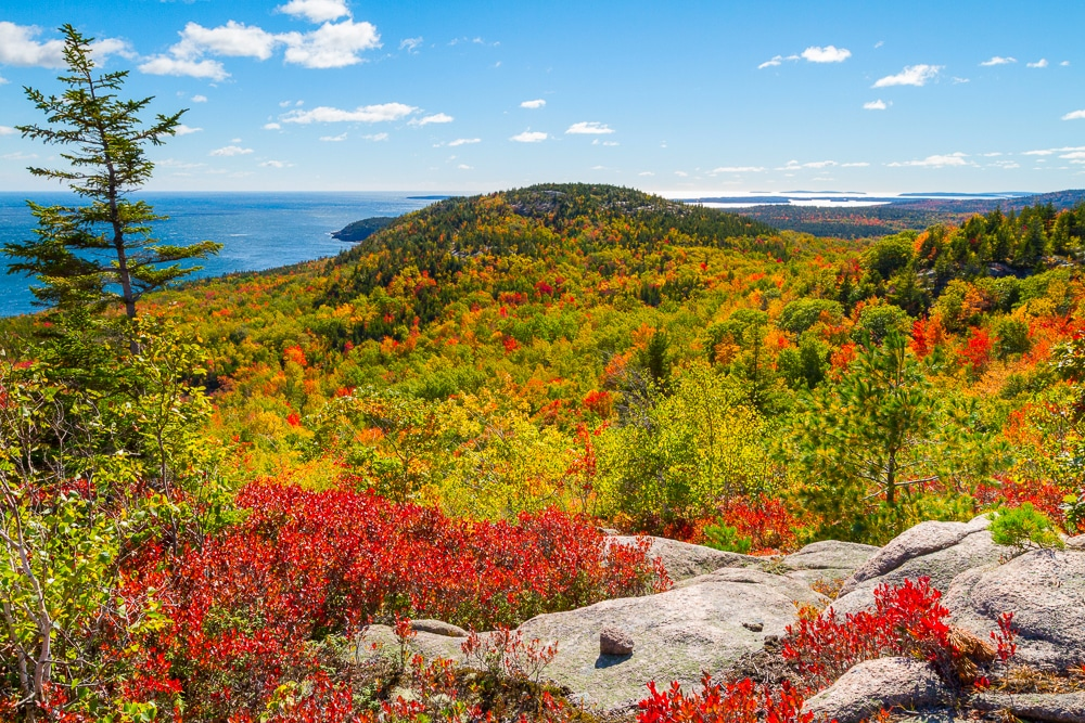 Views on the Beehive Loop Trail in Acadia National Park, one of the best hiking trails in every US state