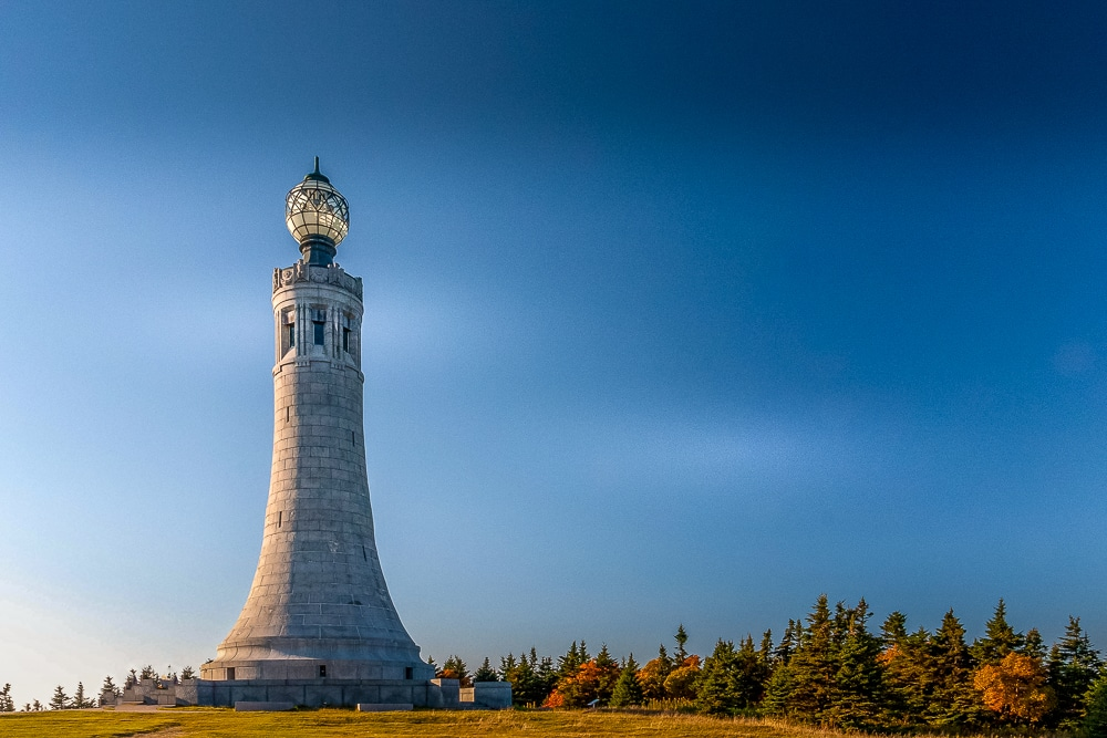 Mount Greylock's lighthouse-like Veterans War, along one of the best hiking trails in every US state