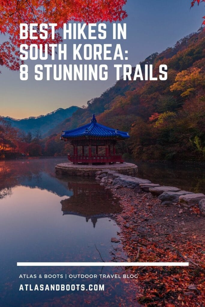 Pinterest pin for best hikes in South Korea