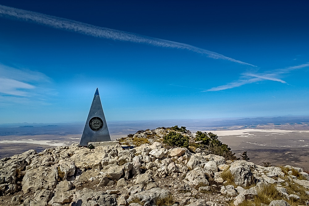 The Summit of Guadalupe Peak in Texas