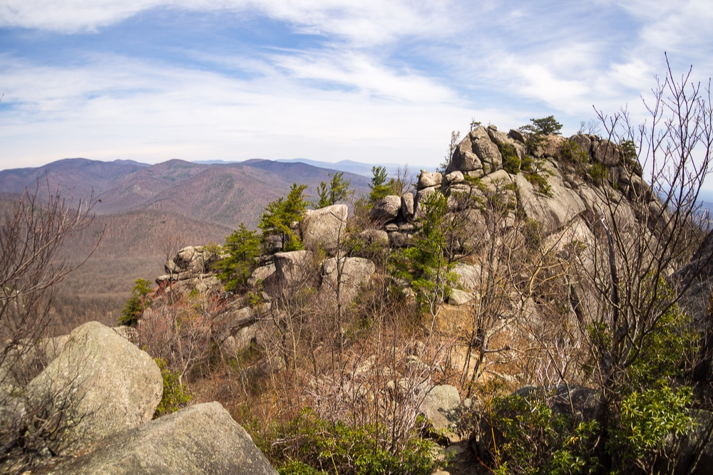 The rocky summit of Old Rag Mountain in Virginia