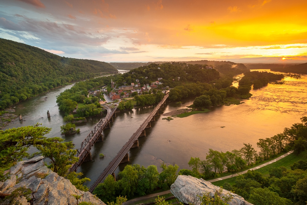 Harpers Ferry from Maryland Heights in West Virginia is one of the best hiking trails in every US state