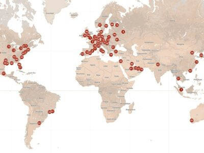 map of the best cities in the world