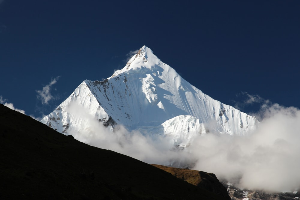 Mount Jitchu Drake in Bhutan can be seen on this unknown trek in Asia