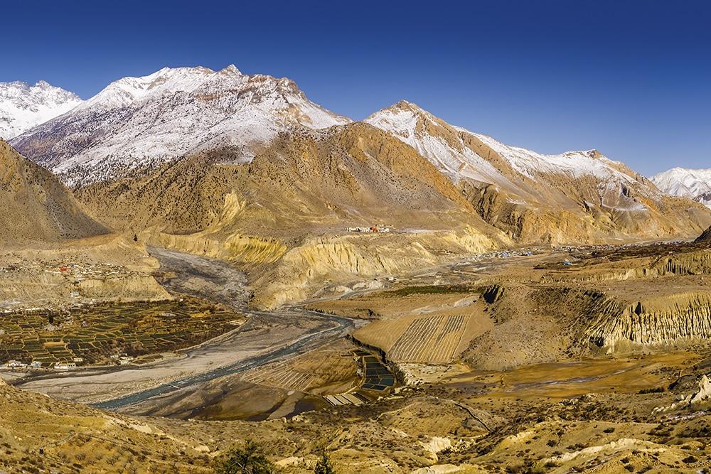 The Kali Gandaki river valley in Nepal