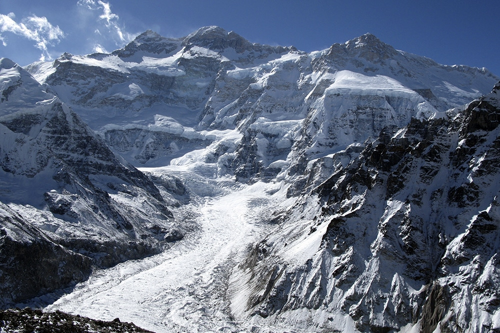 Kangchenjunga seen from from Pangpema in Nepal on one of the best unknown treks in Asia