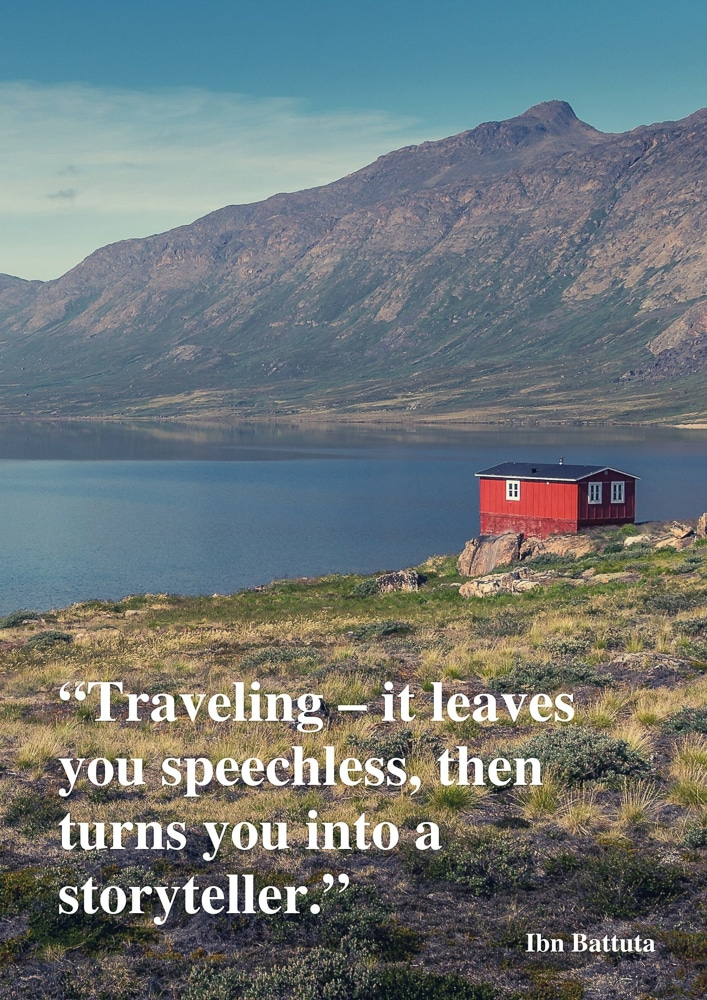 Travelling can leave you speechless