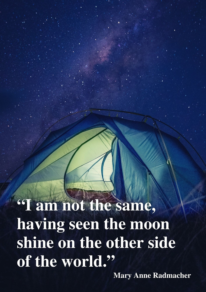 A tent beneath the stars