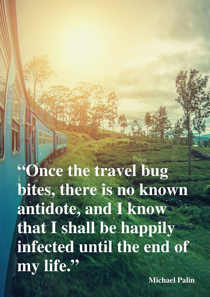 Once the travel bug bites inspirational travel quote