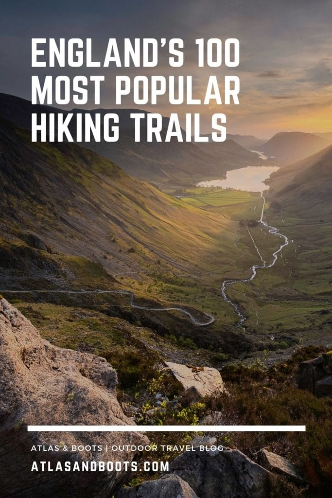 England's most popular hiking trails Pinterest pin
