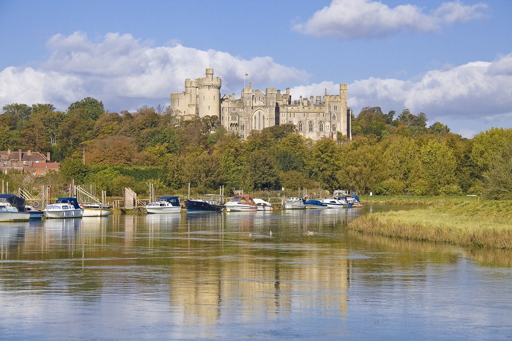 Arundel Castle from the River Arun is one of the most popular hiking trails in England