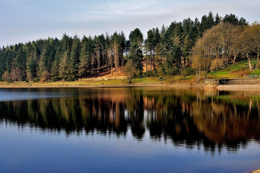 Langsett Reservoir is one of the England's most popular hiking trails