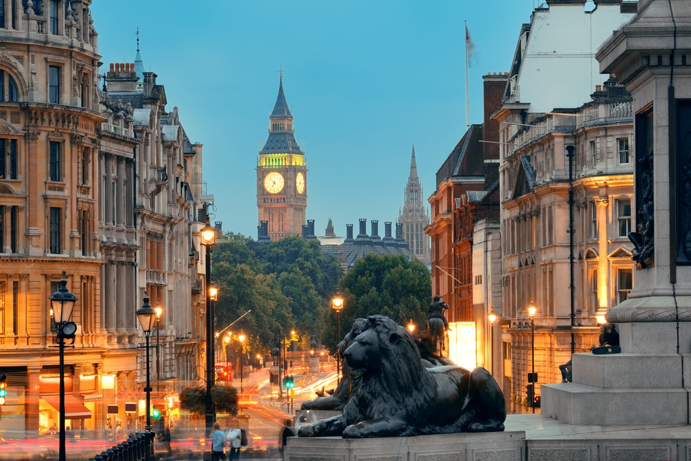 Trafalgar Square is one of the most popular hiking trails in England