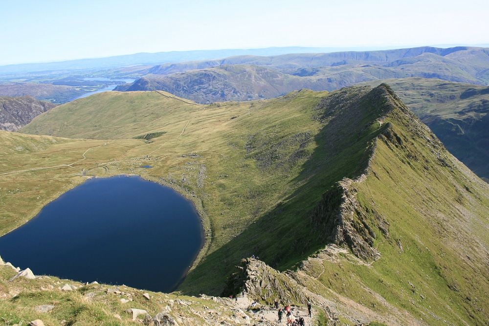 Striding Edge is one of the most popular hiking trails in England
