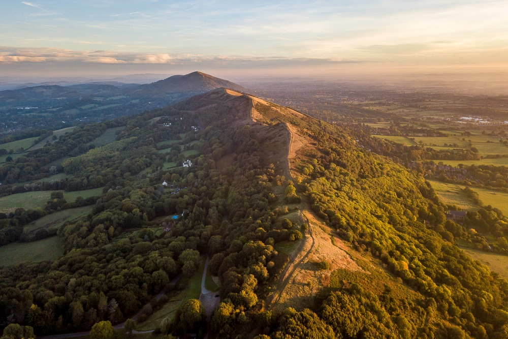 The Malvern Hills is one of the most popular hiking trails in England