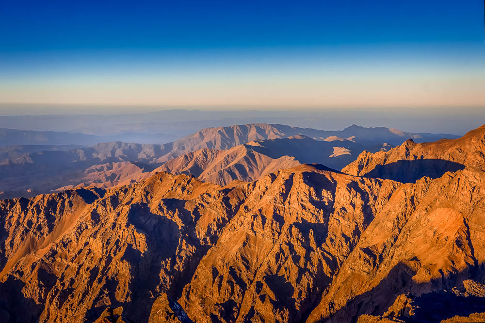 Sunrise over the Atlas Mountains of Morocco