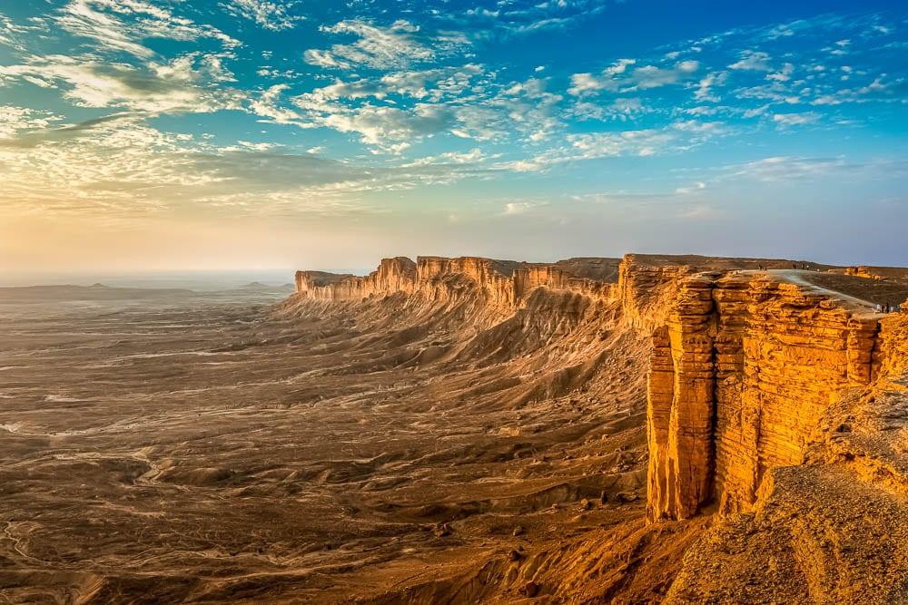 The 'Edge of the World' cliffs near Riyadh