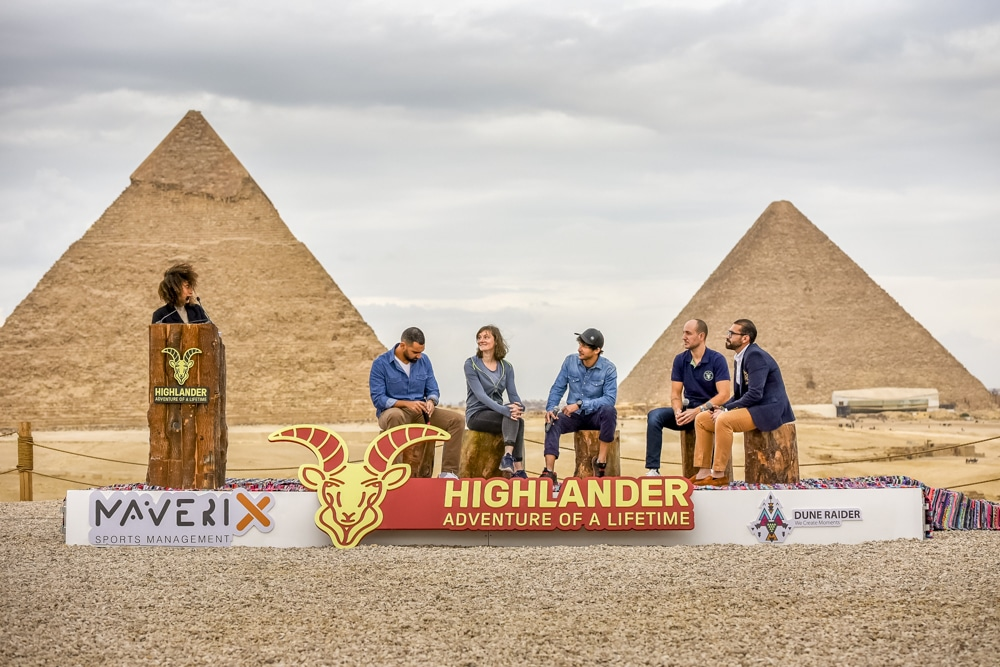 The launch of the new Highlander events in front of Egypt's pyramids
