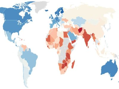happiest countries in the world 2021 map