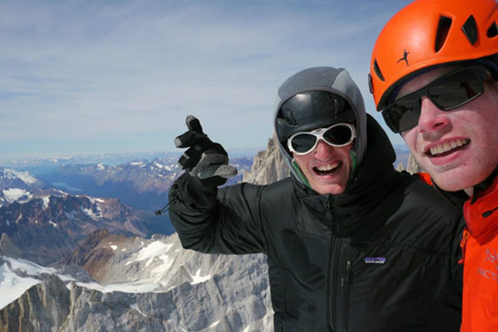 Kruk and Kennedy on the summit of Cerro Torre