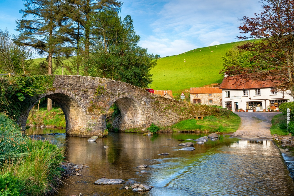 The bridge and ford at Malmsmead in the Doone Valley