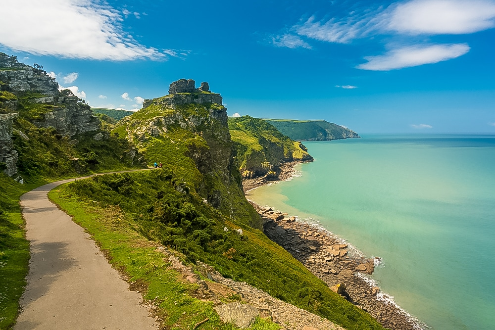 A coastal scene from the Valley of Rocks hike in Exmoor National Park