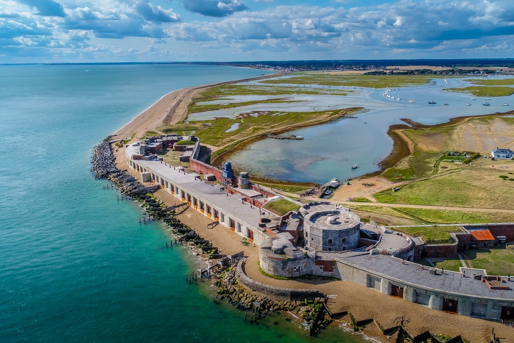 Hurst Castle is one of the best hikes in New Forest National Park