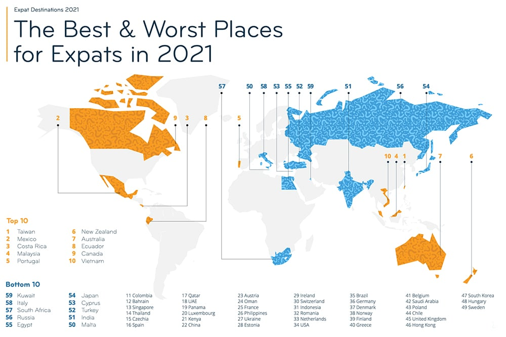 The best and worst countries for expats
