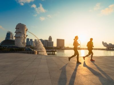runners in Singapore the country has the best healthcare in the world