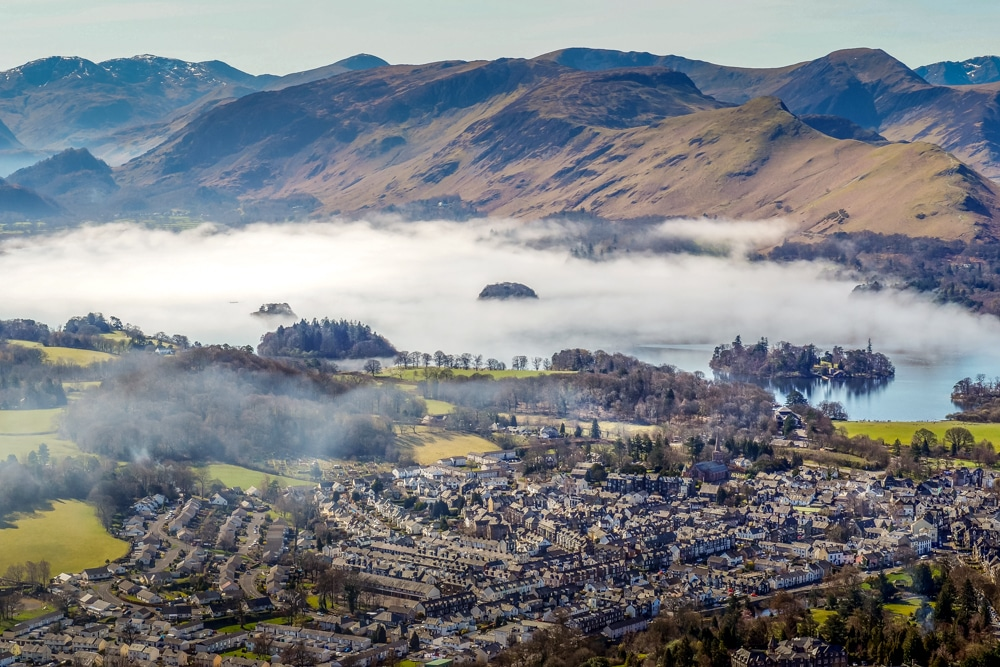 The picturesque town of Keswick