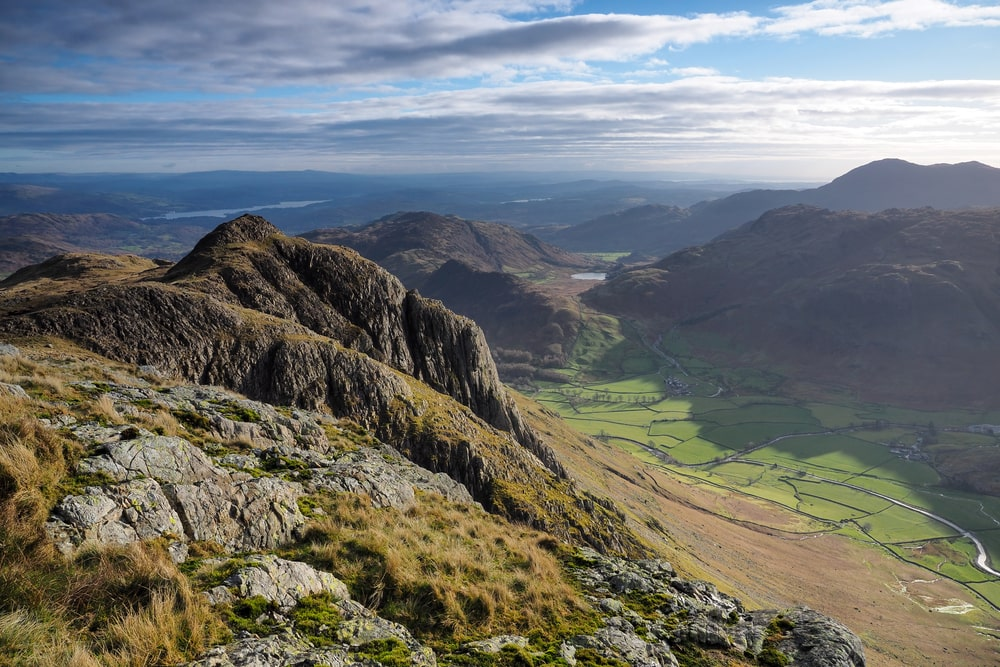 Loft Crag from Pike of Stickle in the Lake District