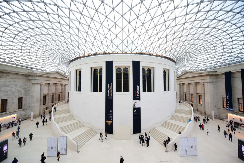 British Museum interior in London, UK